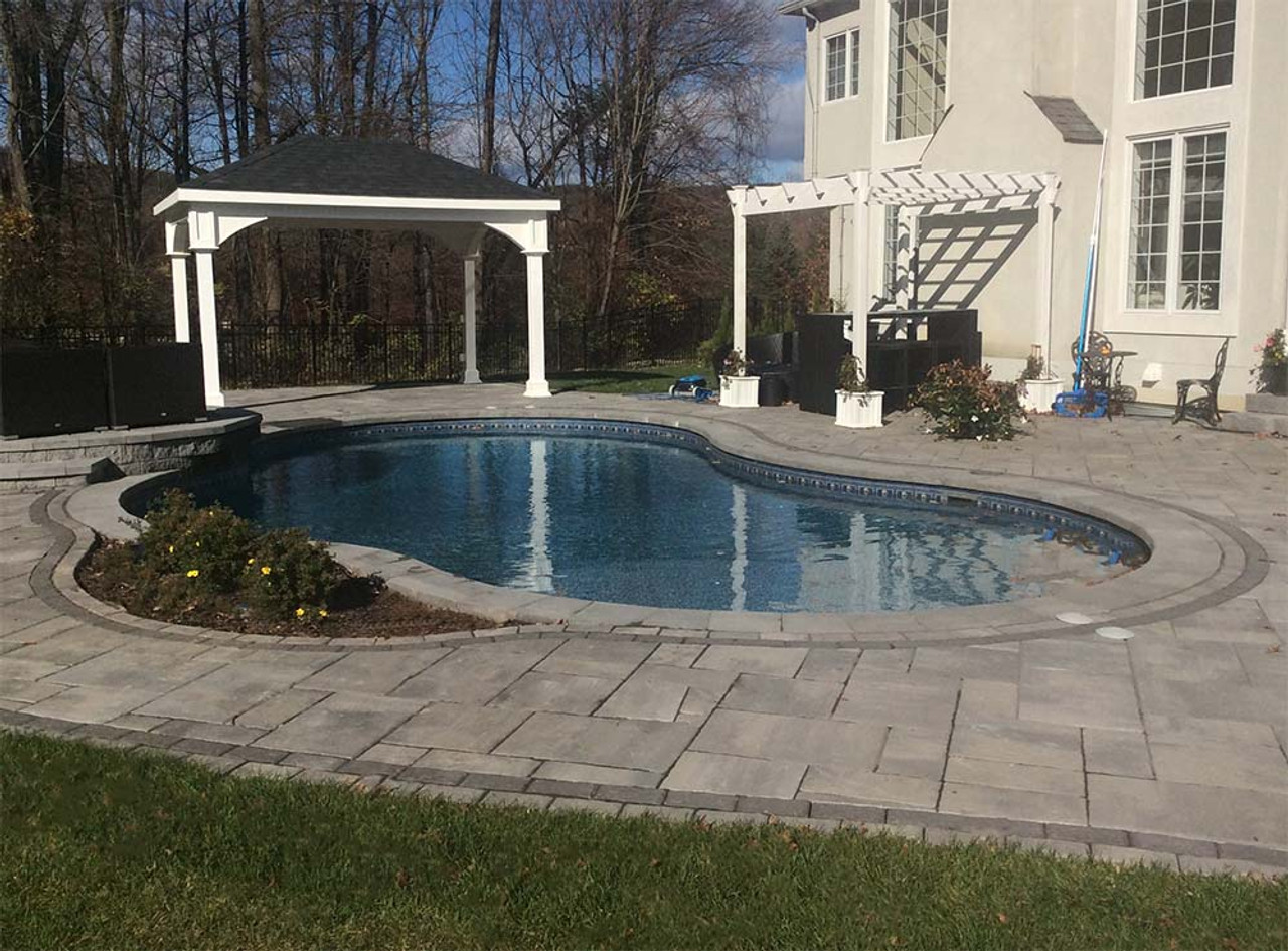 10x14 Traditional (Hip) Roof Pavilion Poolside Beauty Mahwah, New Jersey