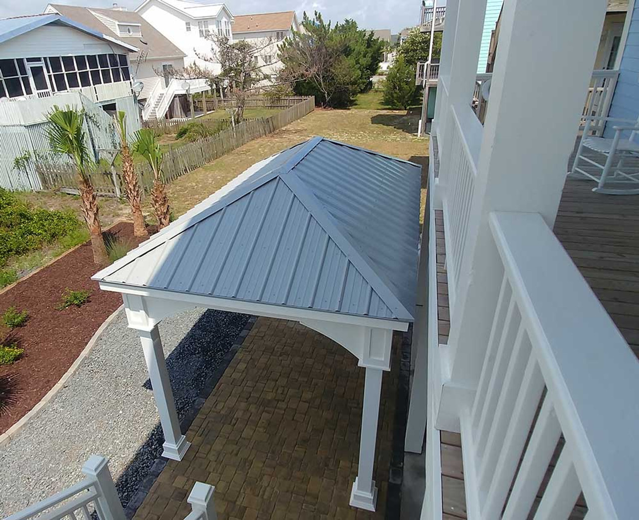 Gray Metal Roof Pavilion View