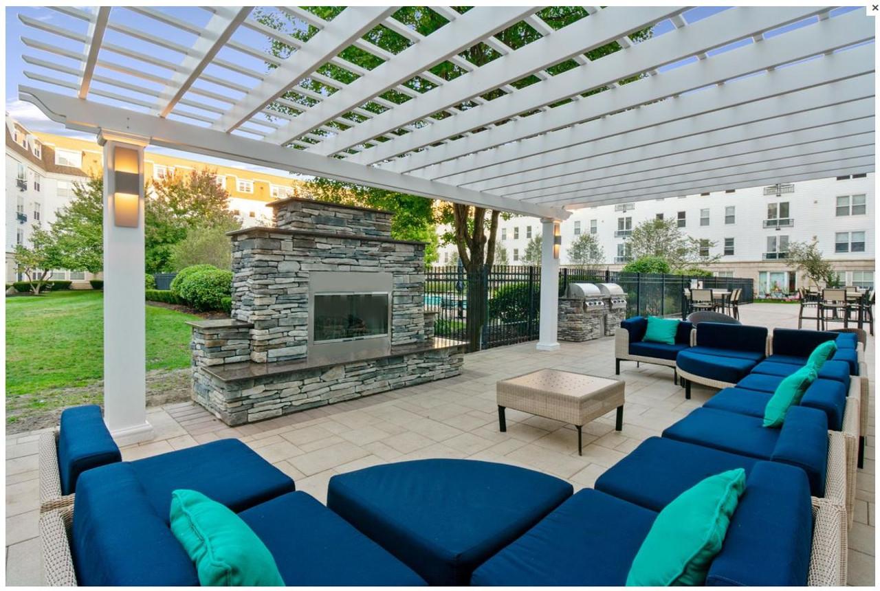Beautiful Patio Under a 26x20 Fiberglass Pergola, Malden, MA