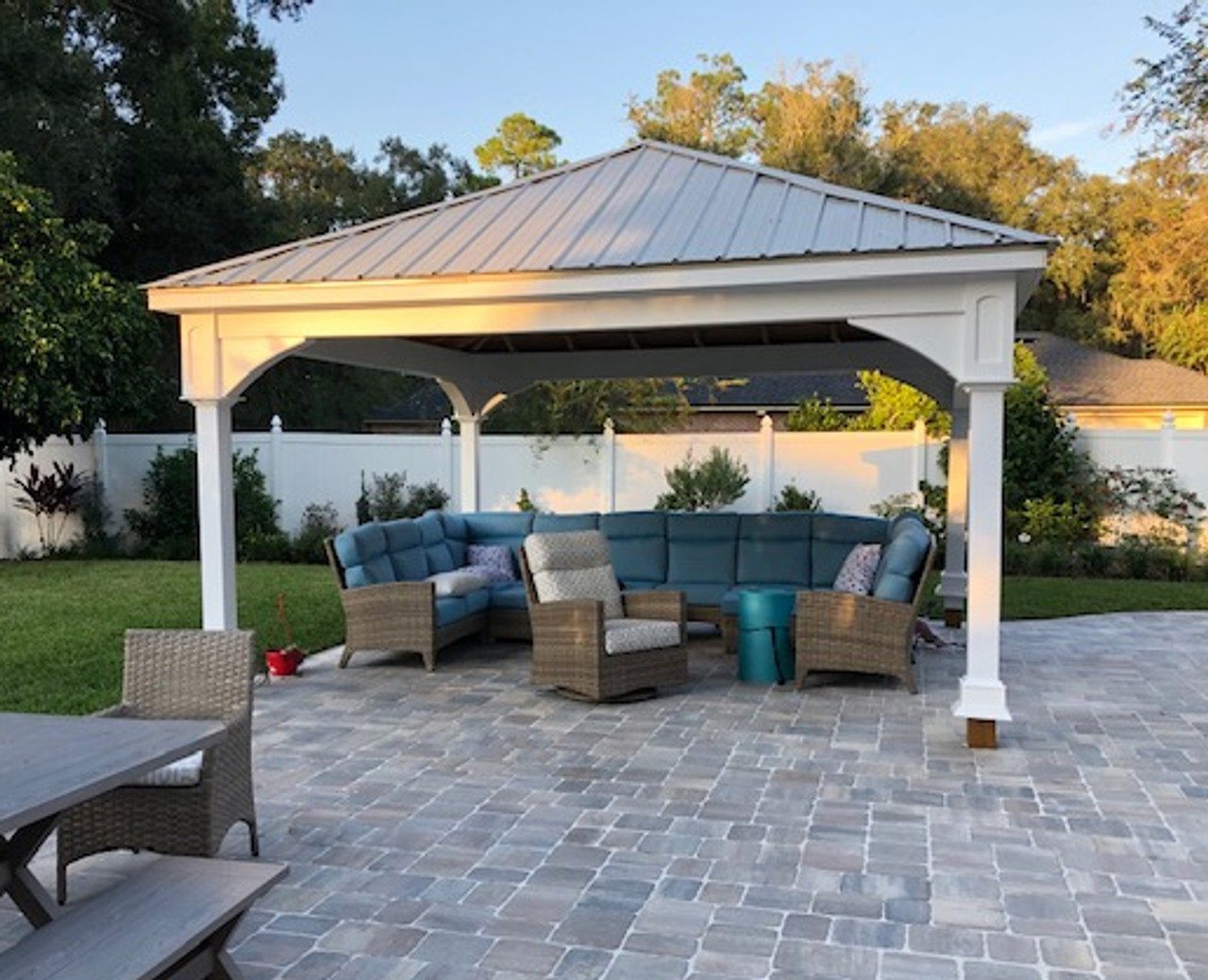 16x16 Pressure Treated Pine Traditional (Hip) Roof Pavilion Jacksonville FL