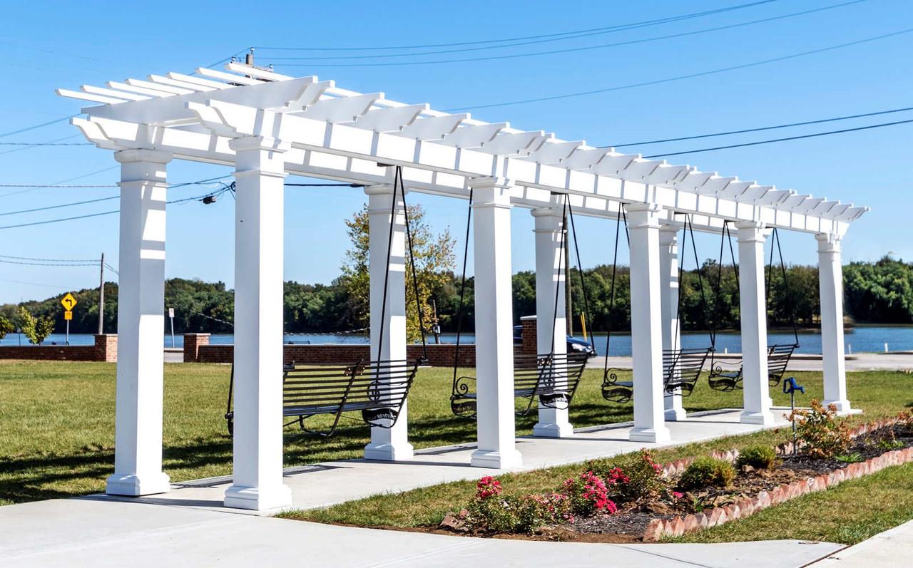 44x8 Fiberglass Swing Set in Gabbard Park, Aurora, IN