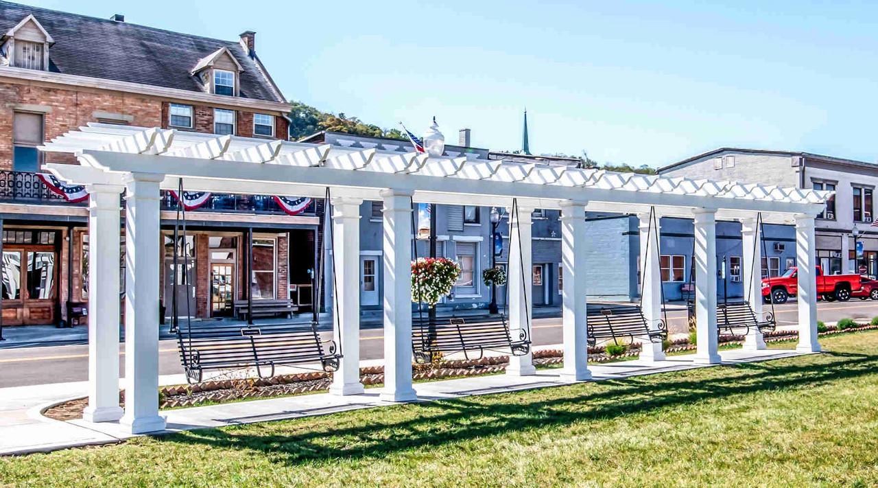 44x8 Structural Fiberglass Swing Set, Aurora, IN