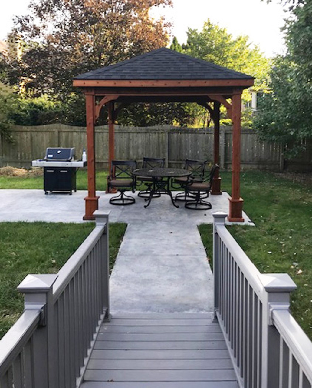10x10 Western Red Cedar Traditional (Hip) Pavilion Indianapolis, IN