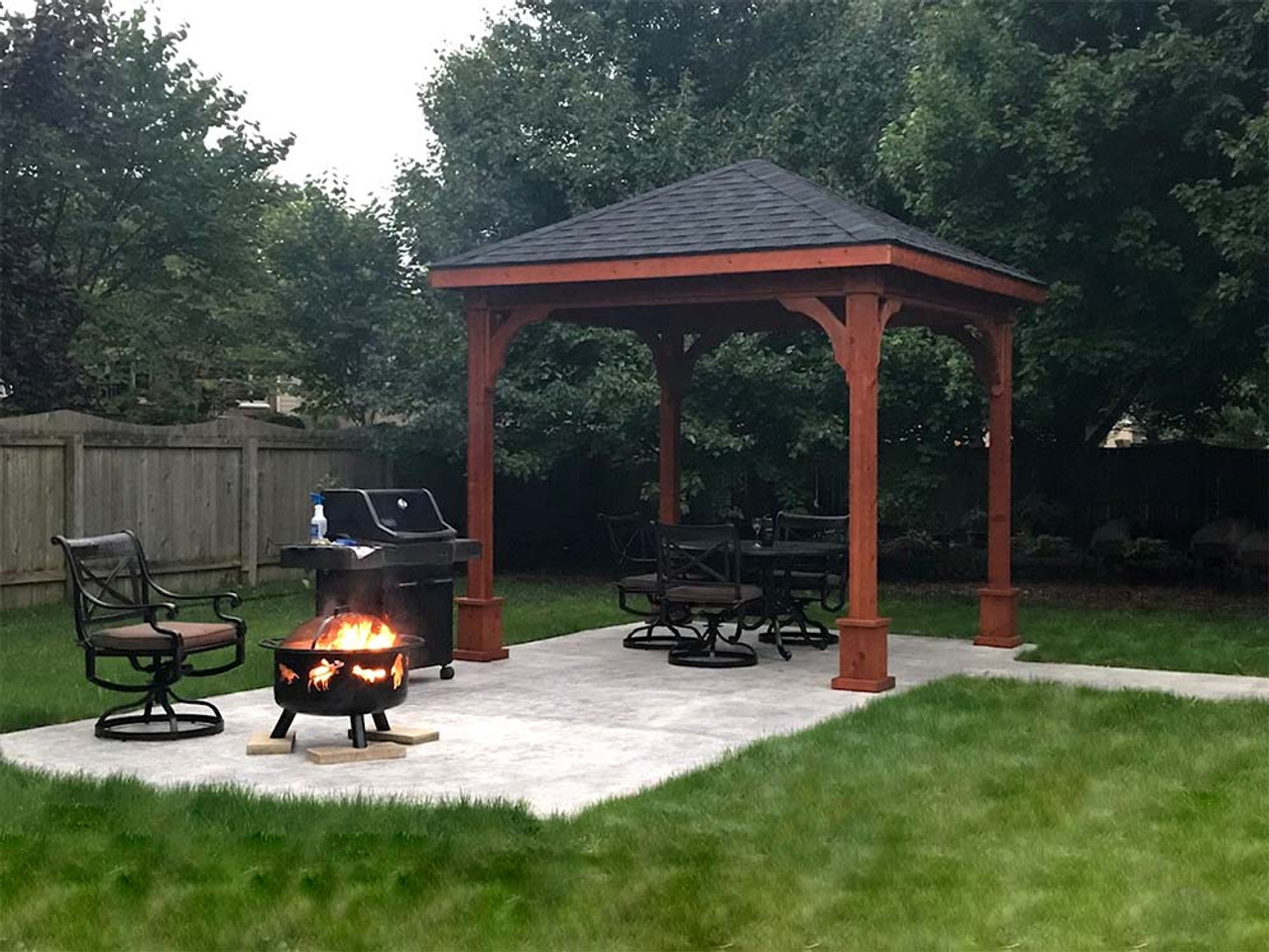 10x10 Western Red Cedar Traditional (Hip) Pavilion Indianapolis, Indiana
