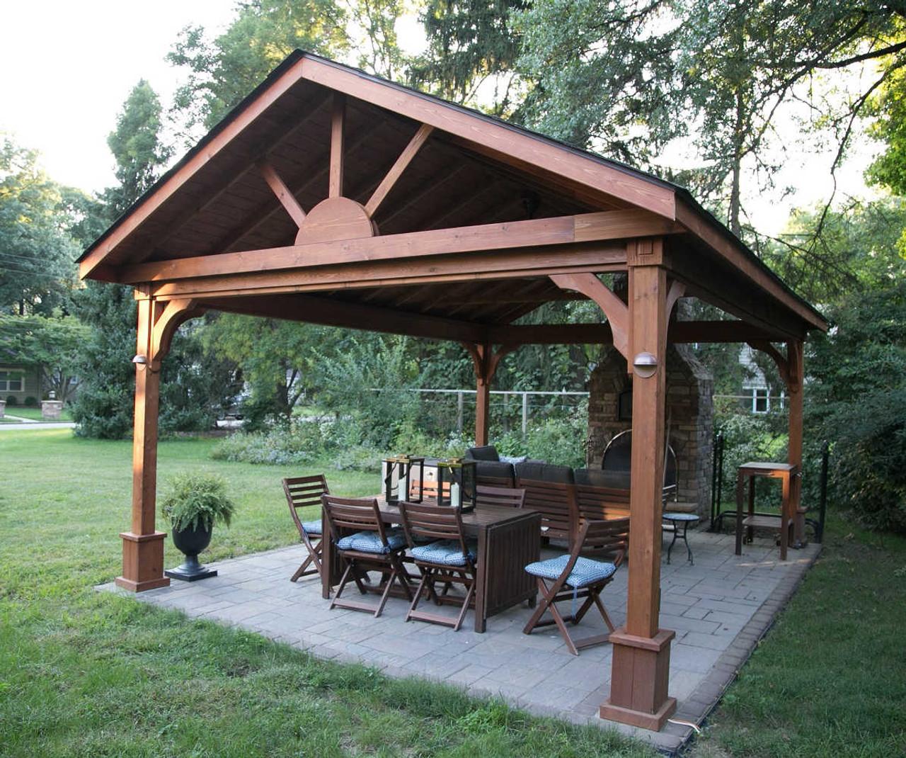 14x18 Gabled Roof Cedar Pavilion, Sewickley, Pennsylvania