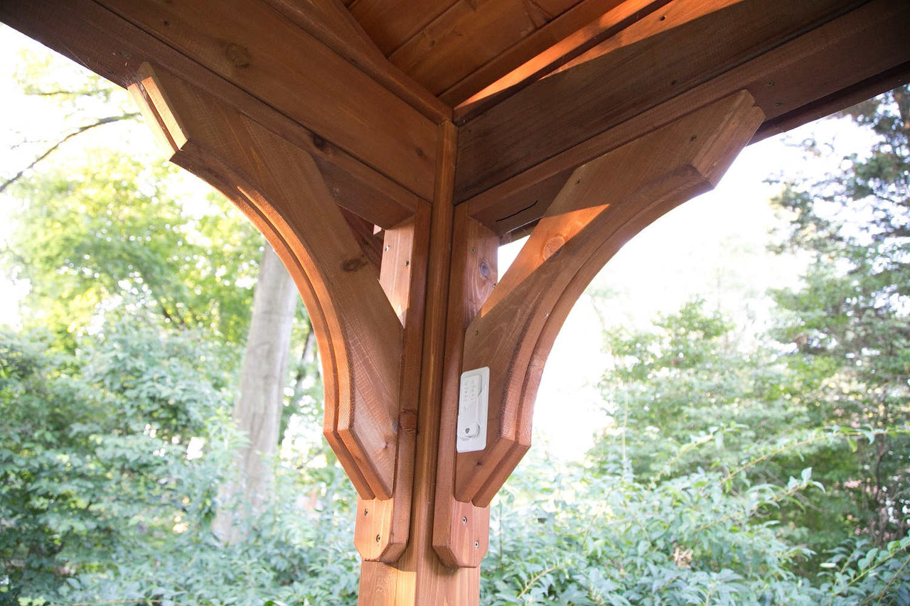 Corner Braces on Cedar Pavilion, Sewickley, PA