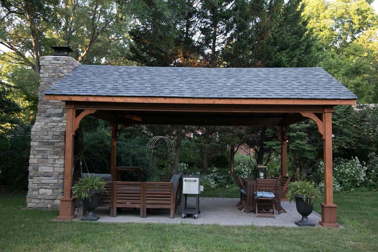 Rustic Virginia Slate Asphalt Shingles on Cedar Pavilion