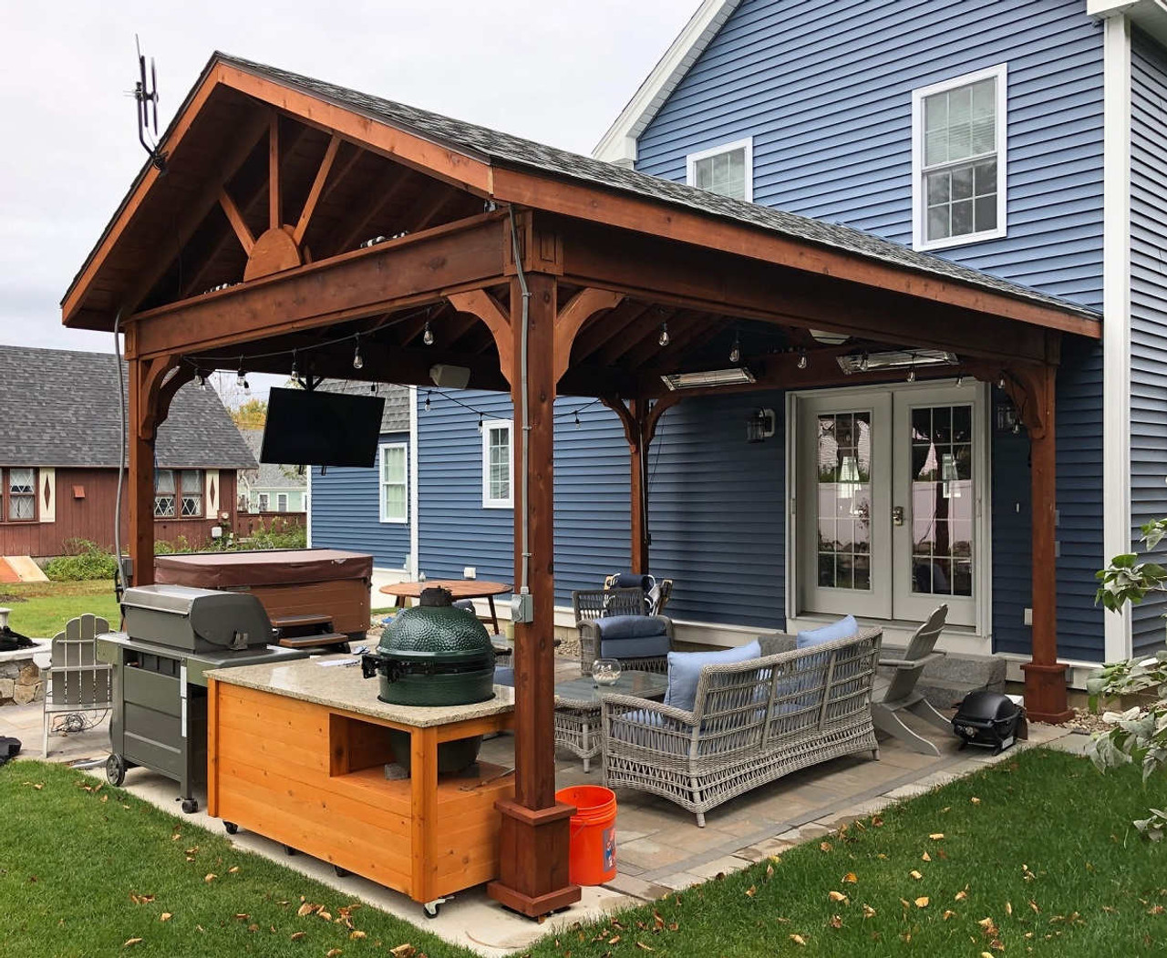 14x18 Gabled Roof Cedar Pavilion, York, Maine