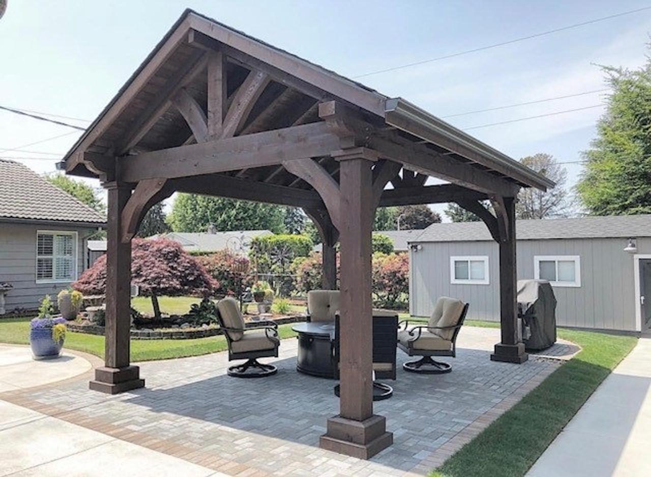 12x16 Grand Cedar Rough Sawn Pavilion Kit, Battle Ground, WA