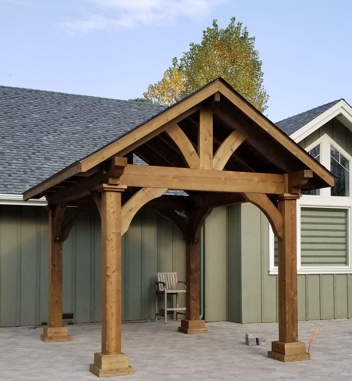 10x12 Grand Cedar Pavilion with Walnut Stain, Gardnerville, NV