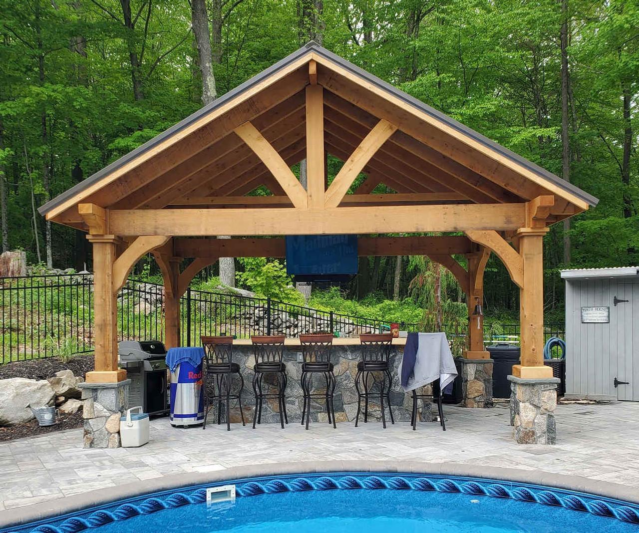 17x11 Grand Cedar Pavilion Kit, New Milford, Connecticut
