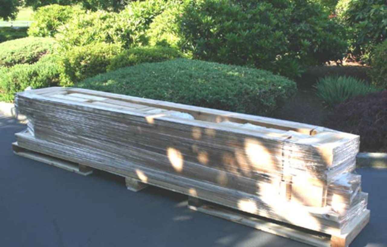 Everlynn ceder pergola kit delivery package
