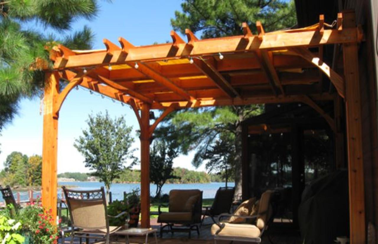 backyard wood cedar pergola kit
