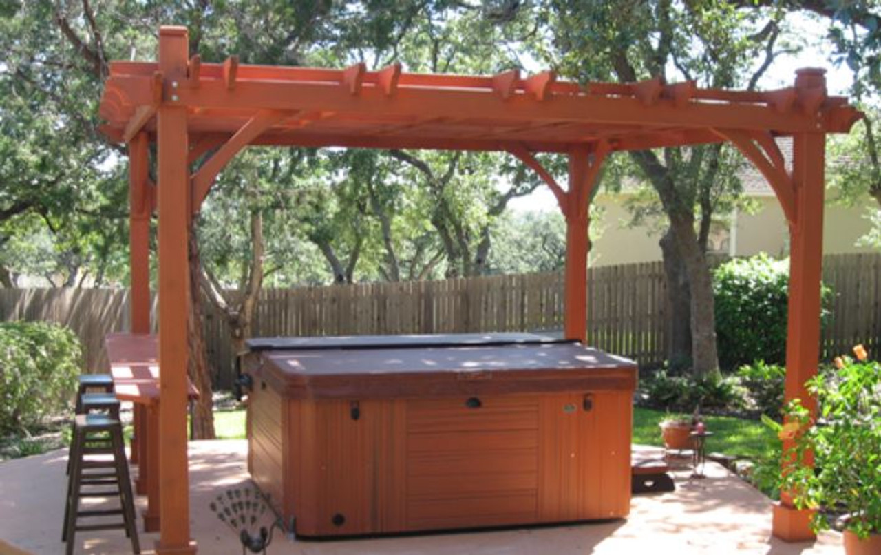 hot tub pergola kit - Everlynn cedar pergola kit