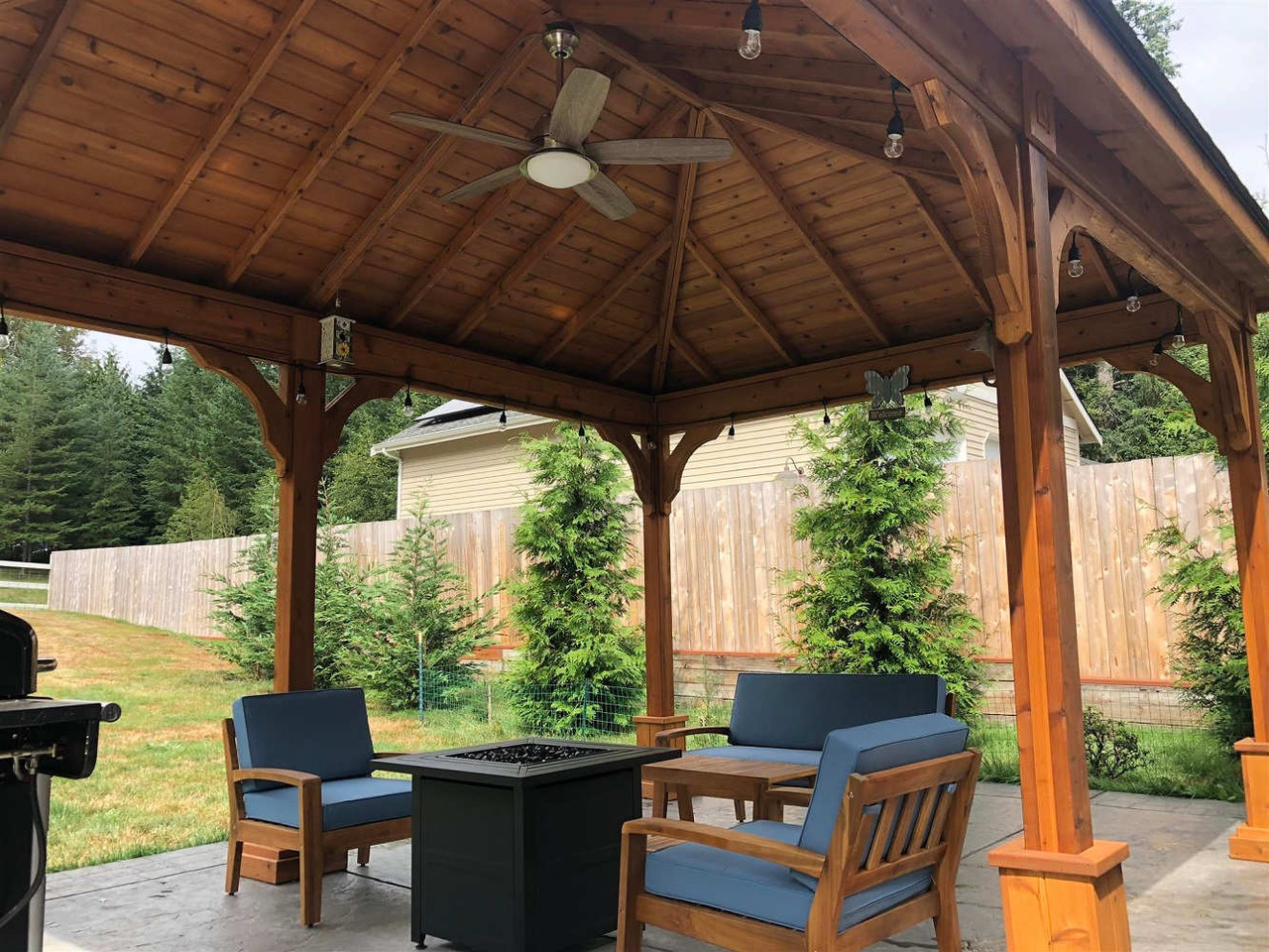 Relax Under a Hip Roof Cedar Patio Cover, Snohomish, WA