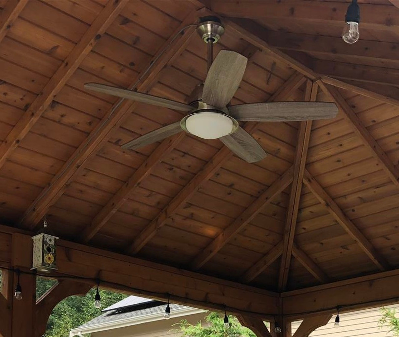 Tongue and Groove Underside of a Traditional (Hip) Roof Cedar Patio Cover Kit, Snohomish, WA