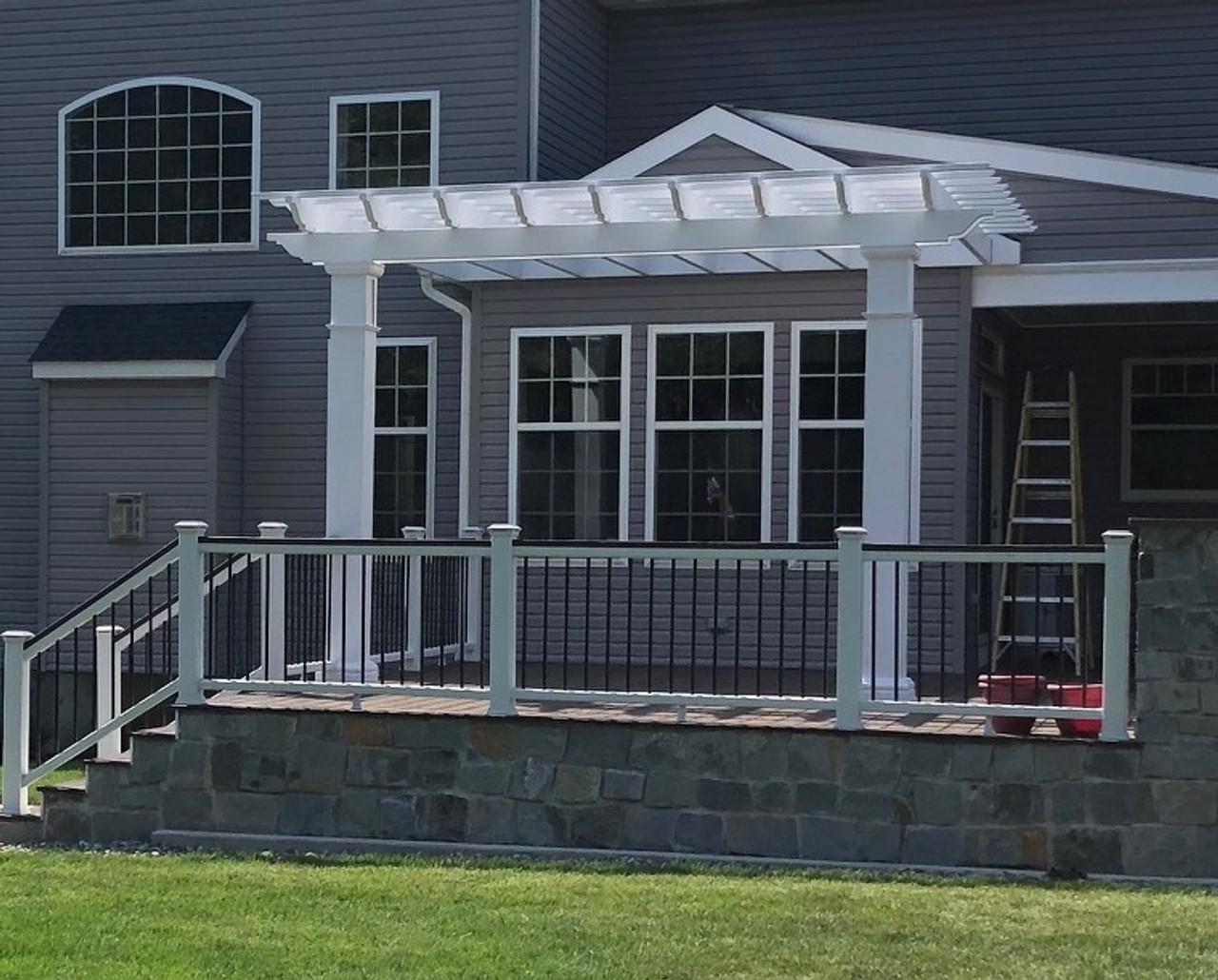 15x13 Structural Fiberglass Wall Mounted Pergola Kit, Robbinsville, NJ