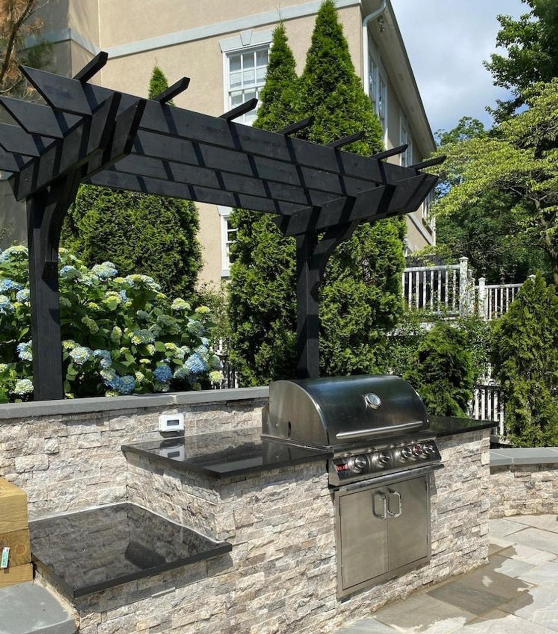 7x5 Cantilevered In-Line Classic Cedar Pergola Kit, Lorton, Virginia