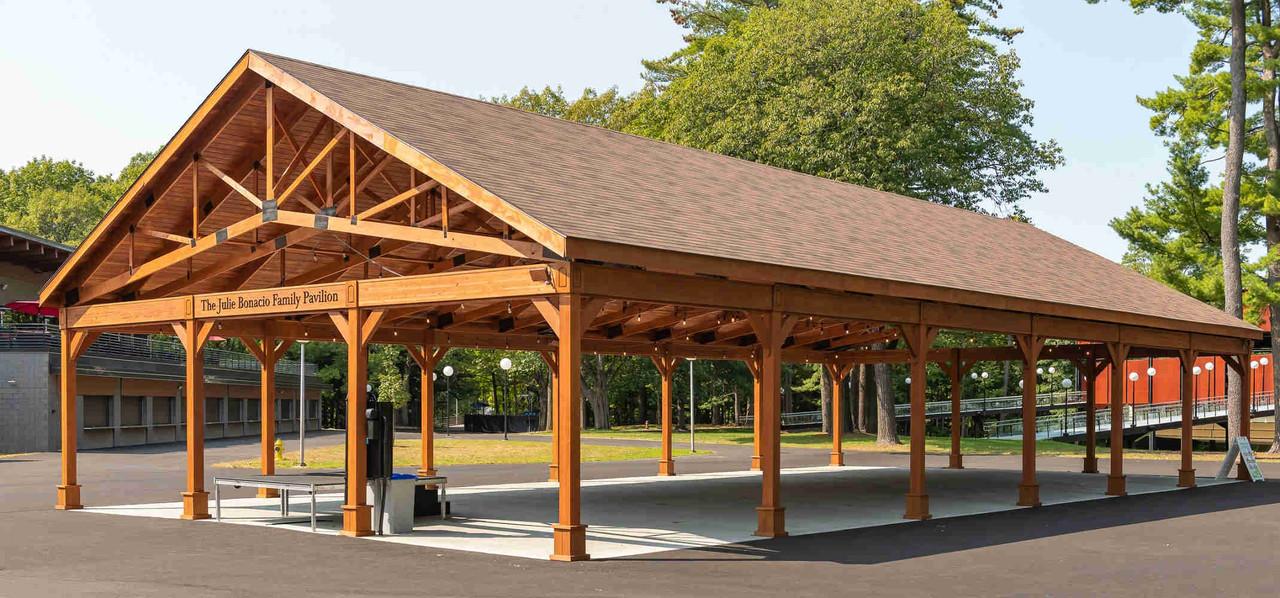 40x80 Gable Roofed Pressure Treated Pine Pavilion, Saratoga Springs, New York