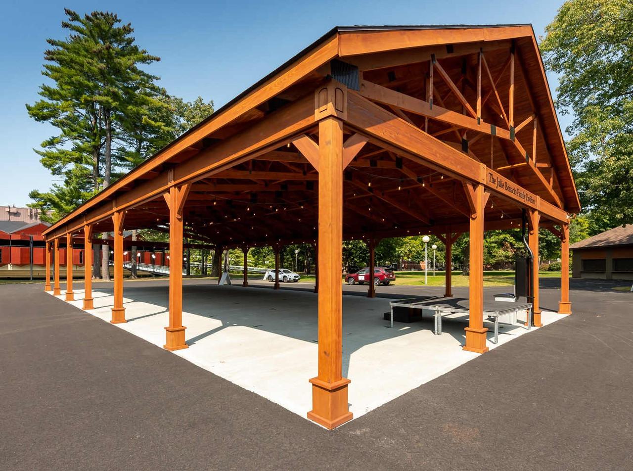 40x80 Open Gable Pressure Treated Pine Pavilion, Saratoga Springs, NY