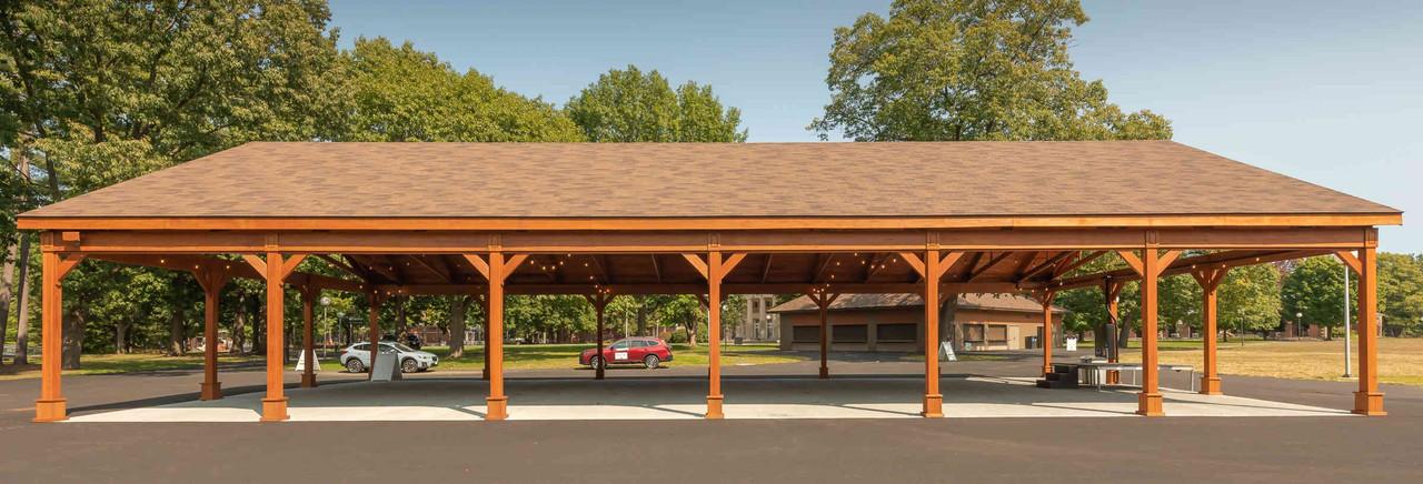 80 Foot Long Pressure Treated Pine Pavilion, Saratoga Springs, NY