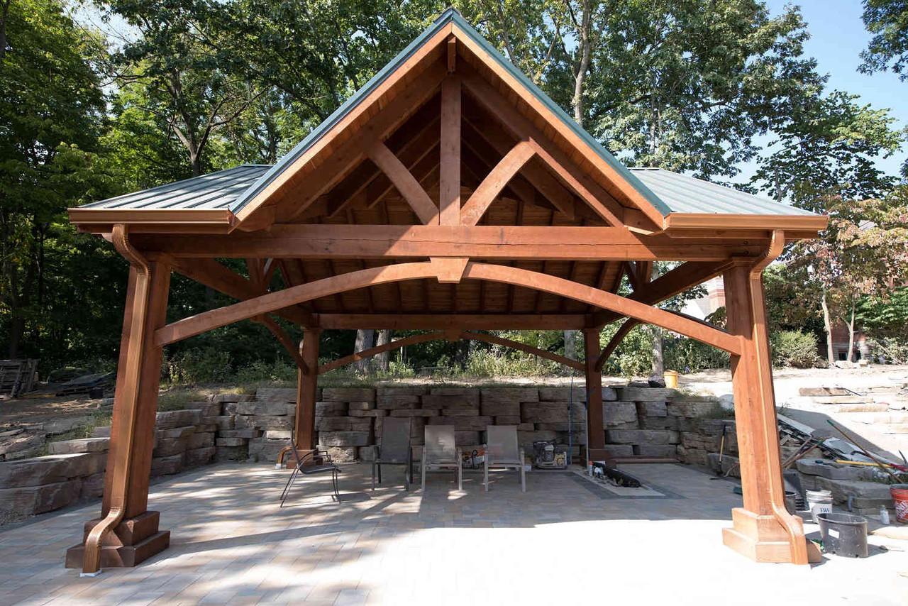 20x20 Grand Cedar Pavilion Kit with Third Gable, St. Charles, MO