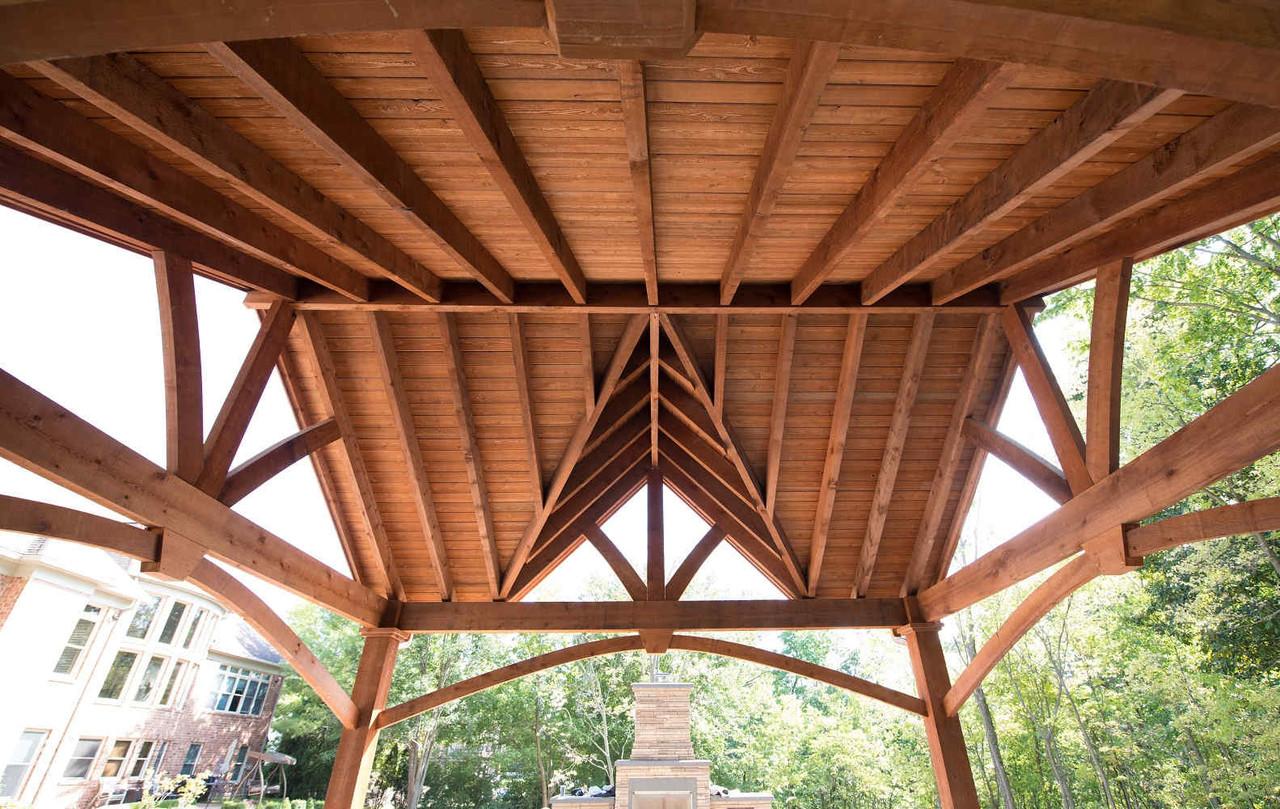 Underside of Triple Gable Grand Cedar Pavilion, St. Charles, MO