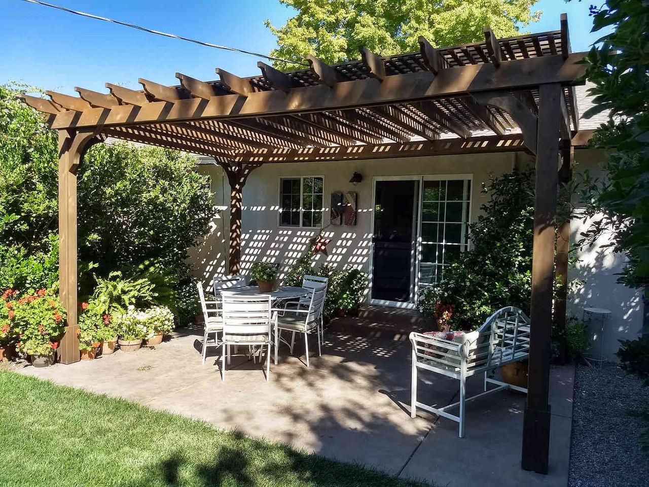 16x10 Classic Cedar Pergola Kit, Lodi, California