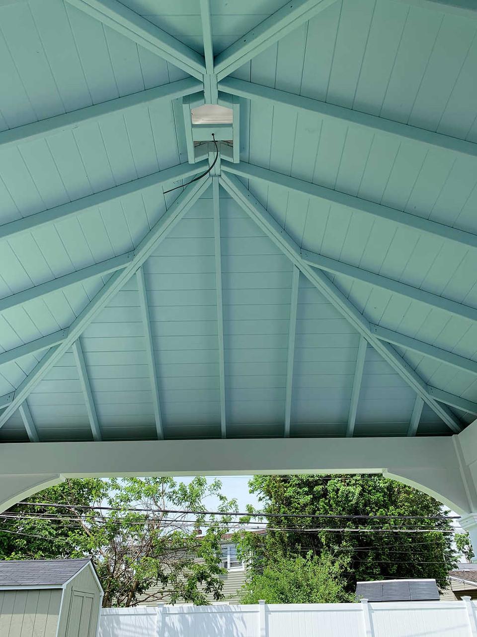 Interior ceiling painted a custom color - Benjamin Moore Clear Skies