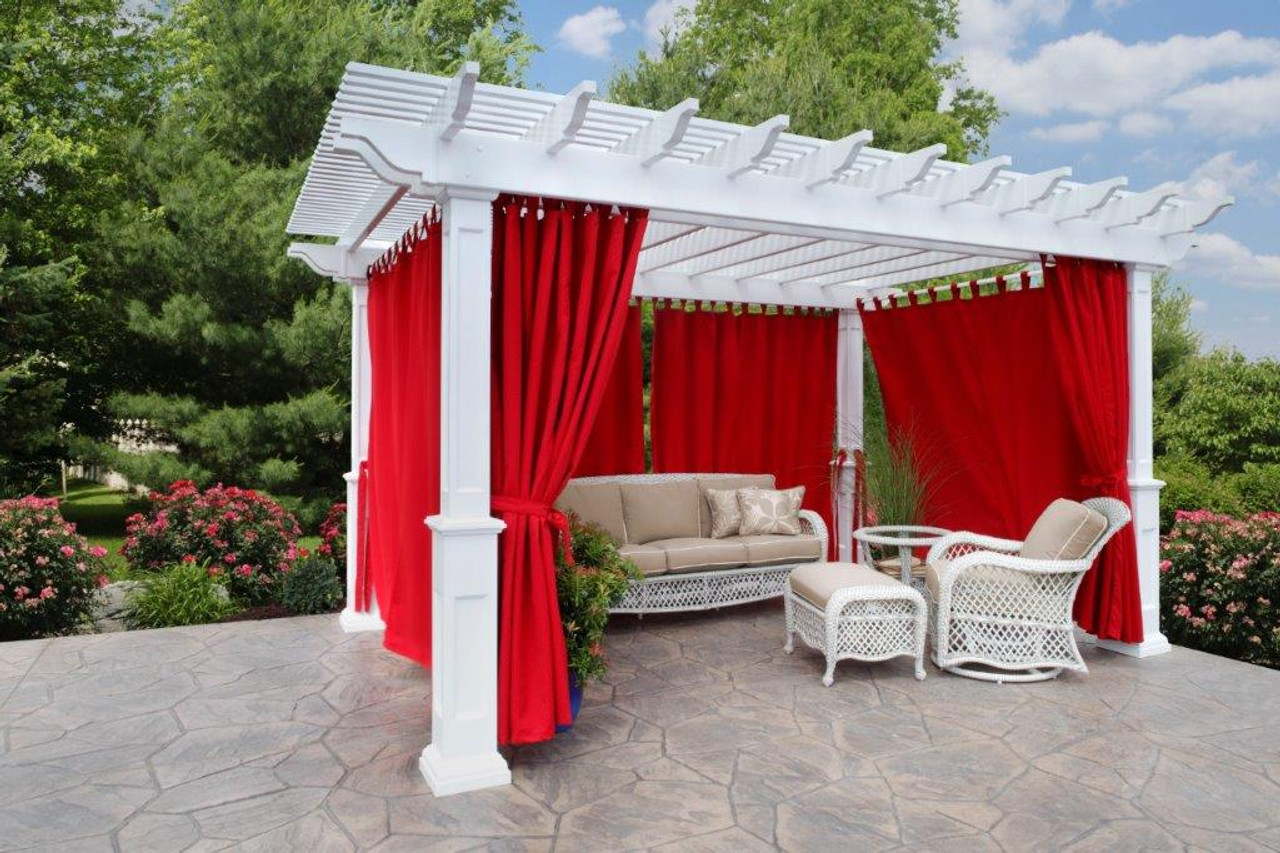 12x16 (roof span) Newport Pergola Kit, curtains