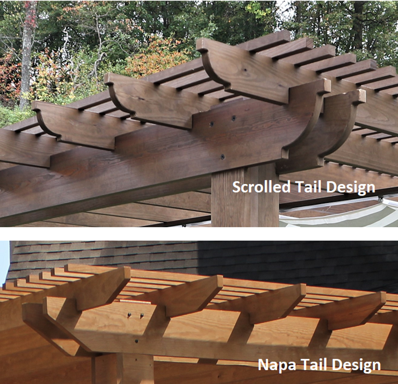 Rafter tail design - Scrolled and Mitred