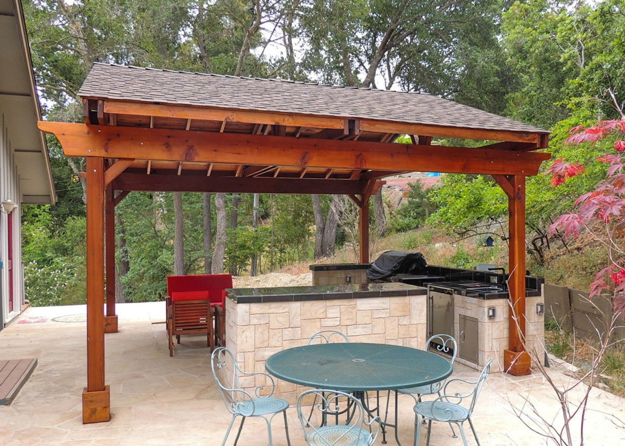 Covered Pergolas Outdoor Kitchen