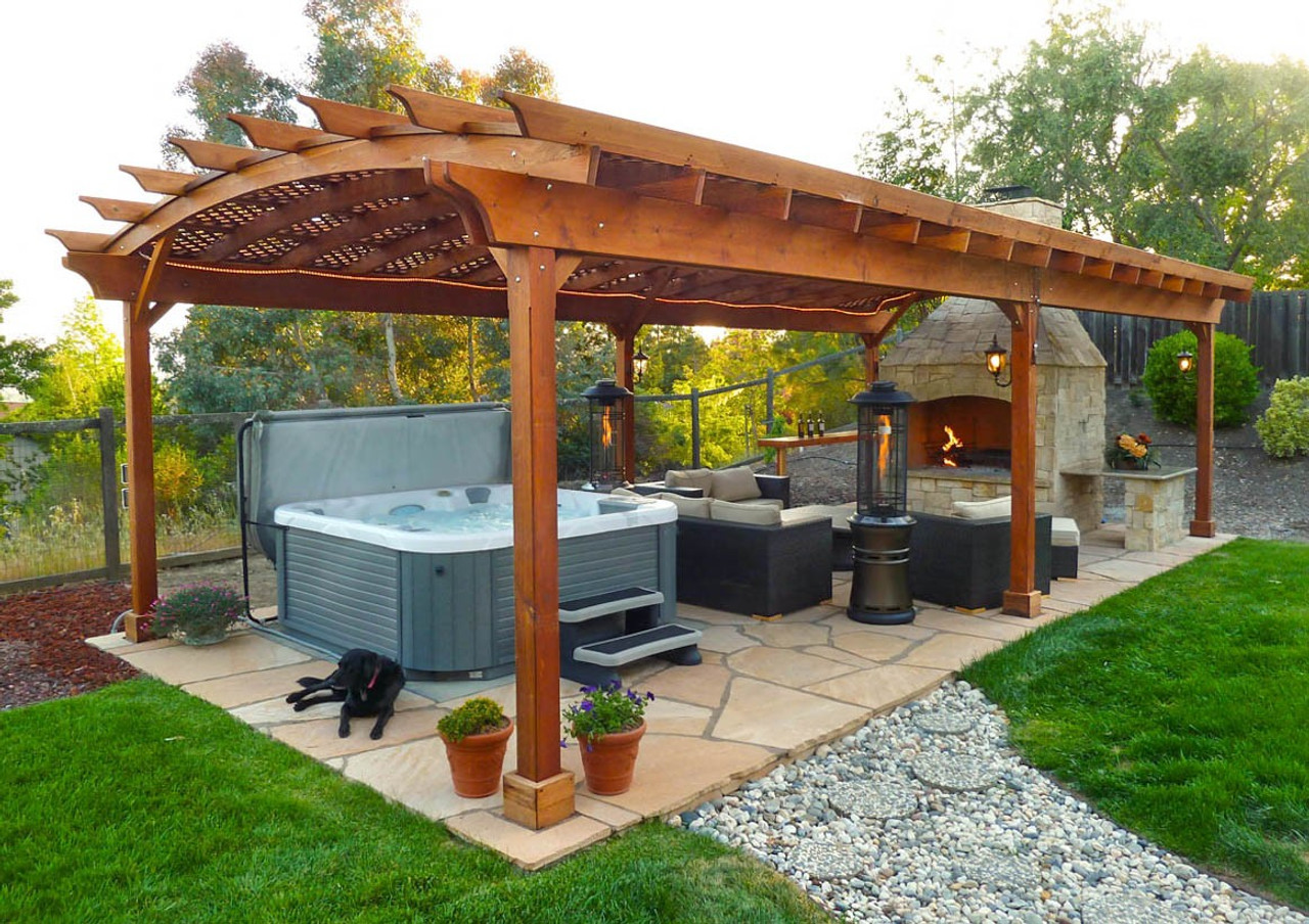 Hot tub pergola - large