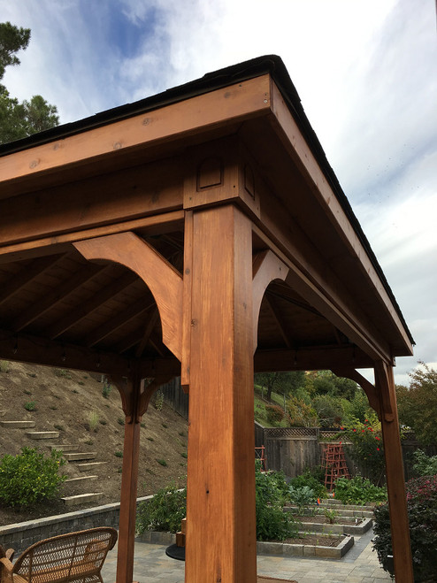 Red Cedar Traditional Roof Pavilion