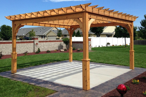 Serenity Cedar Pergola Kit - Red Cedar Pergola Kits Ready To Assemble All Sizes