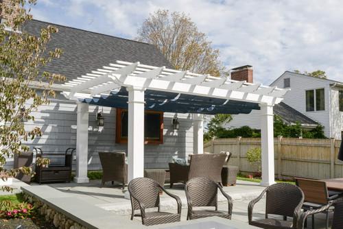 Fiberglass Pergola Kit + Retractable Canopy - Pergola Kits USA.com