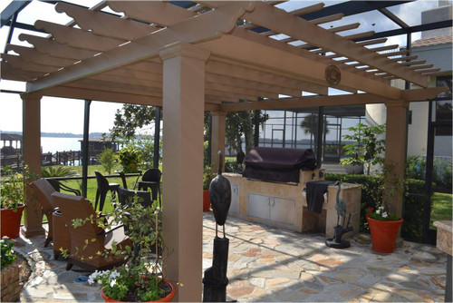 outdoor kitchen pergola corner bbq pergola kit v2 covered pergolas for an outdoor kitchen