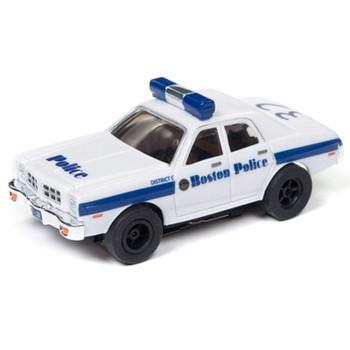 Auto World Xtraction R21 1977 Dodge Monaco Boston Police HO Scale Slot Car
