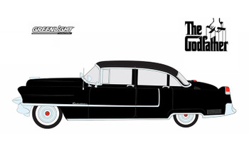 "Greenlight - Hollywood Series 14 | ""The Godfather"" Cadillac Fleetwood Series 60 Special (1955, 1/64 scale diecast model car, Black) 44740B/4"