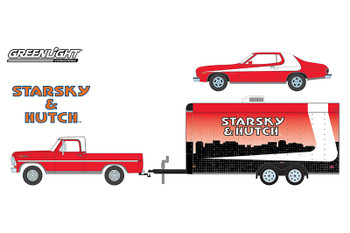 Starsky and Hutch (TV Series, 1975-79) 1972 Ford F-100 with 1976 Ford Gran Torino in Enclosed Car Hauler