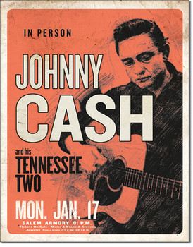 """TIN SIGN # 2344 CASH & His Tennessee Two  12.5""""Wx16""""H"""