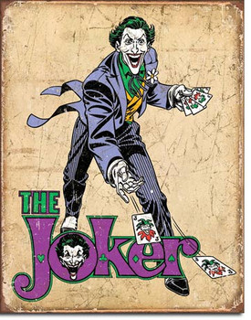 "TIN SIGN# 2090 DC Comics - The Joker  12.5""Wx16""H"