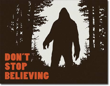 """TIN SIGN # 2195 Don't Stop Believing  16""""Wx12.5""""H"""