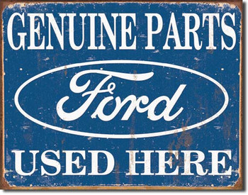"""TIN SIGN# 1422 Ford Parts Used Here  16""""Wx12.5""""H"""