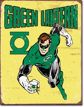 "TIN SIGN# 1735 Green Lantern - Retro  12.5""Wx16""H"