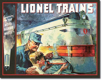 "TIN SIGN# 2283 Lionel 1935 Cover  16""Wx12.5""H"