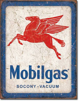 "TIN SIGN# 2167 Mobilgas Pegasus  12.5""Wx16""H"