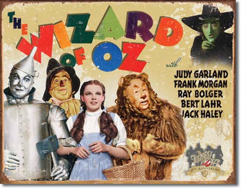 """TIN SIGN # 1562 Wizard of OZ - 70th Anniv. 12.5""""Wx16""""H"""