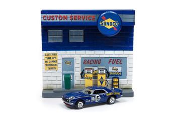 Sunoco Exterior Service Gas Station Facade