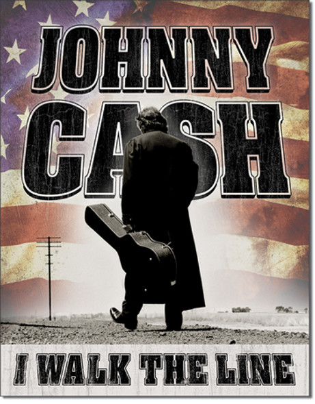 """IN SIGN# 2345 CASH - Walk the Line  12.5""""Wx16""""H"""